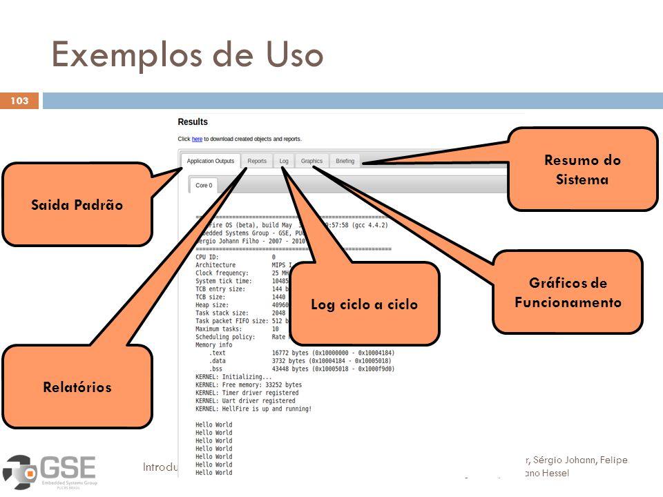Exemplos de Uso Resumo do Sistema Saida Padrão Gráficos de