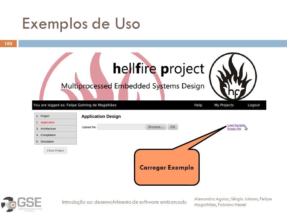 Exemplos de Uso Carregar Exemplo