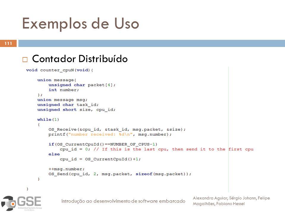 Exemplos de Uso Contador Distribuído