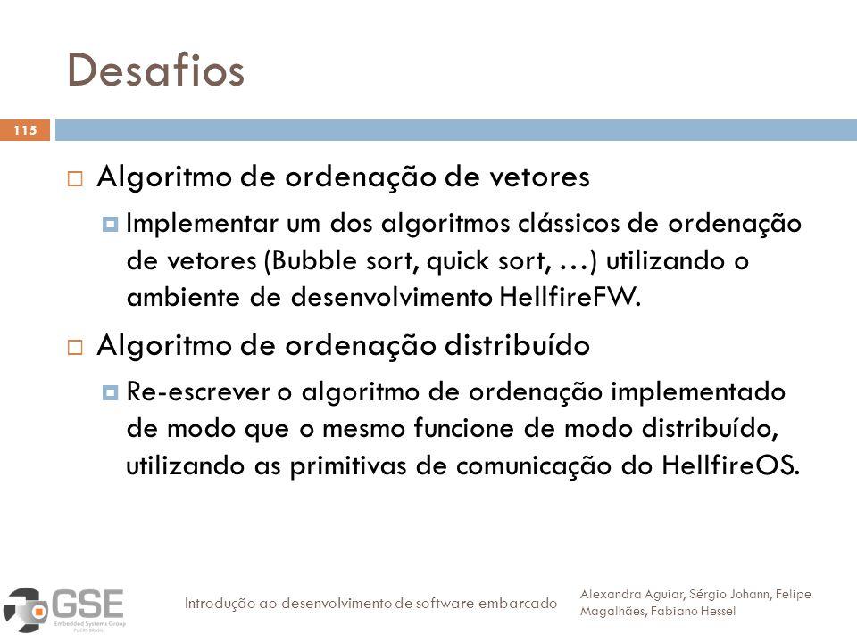 Desafios Algoritmo de ordenação de vetores