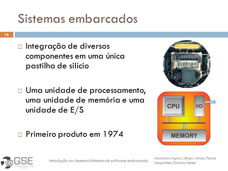 Sistemas embarcados Integração de diversos componentes em uma única pastilha de silício.