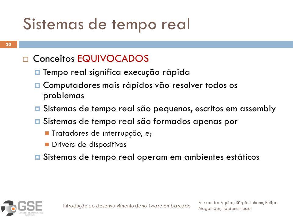 Sistemas de tempo real Conceitos EQUIVOCADOS