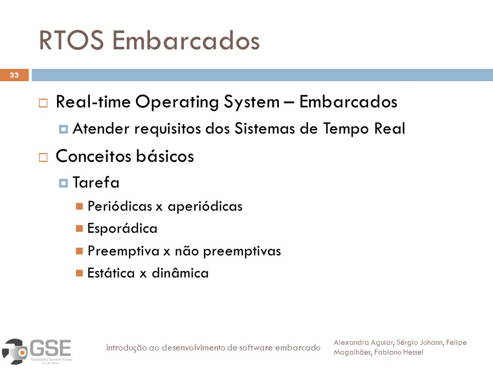 RTOS Embarcados Real-time Operating System – Embarcados