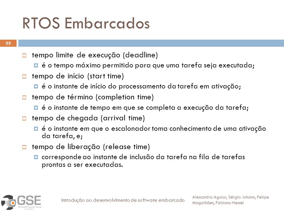 RTOS Embarcados tempo limite de execução (deadline)