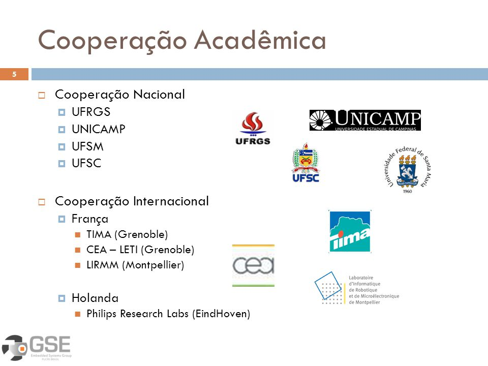 Cooperação Acadêmica Cooperação Nacional Cooperação Internacional
