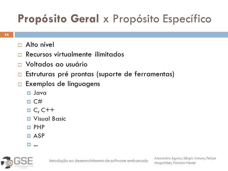Propósito Geral x Propósito Específico