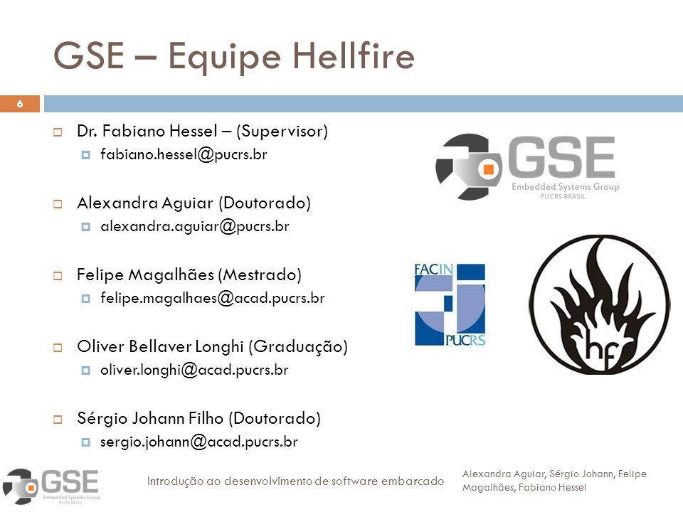 GSE – Equipe Hellfire Dr. Fabiano Hessel – (Supervisor)