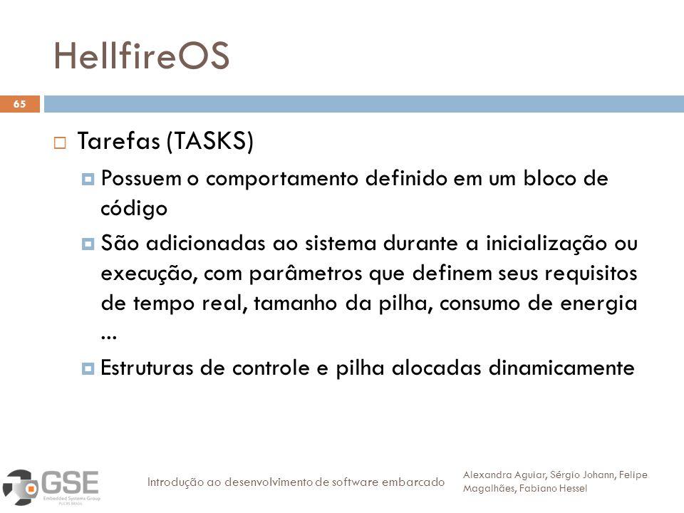 HellfireOS Tarefas (TASKS)