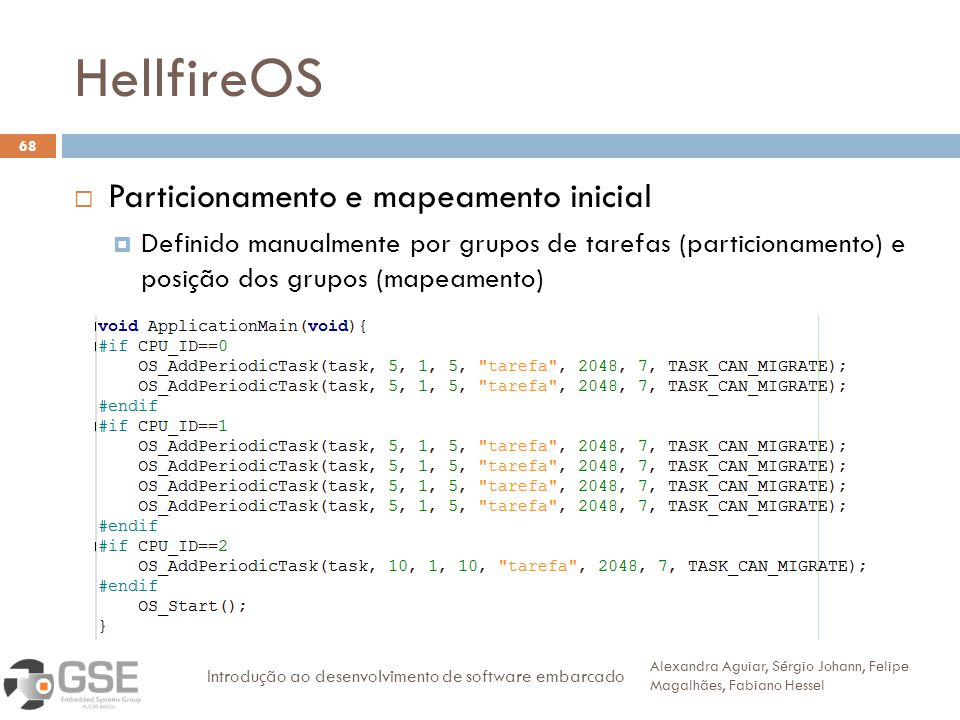HellfireOS Particionamento e mapeamento inicial
