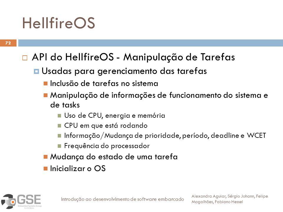 HellfireOS API do HellfireOS - Manipulação de Tarefas