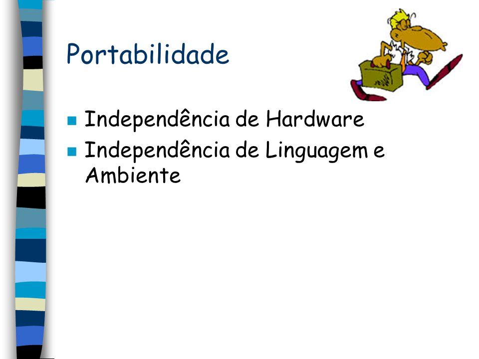Portabilidade Independência de Hardware
