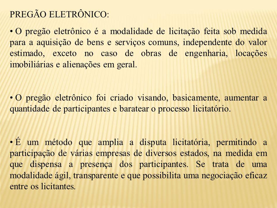 PREGÃO ELETRÔNICO: