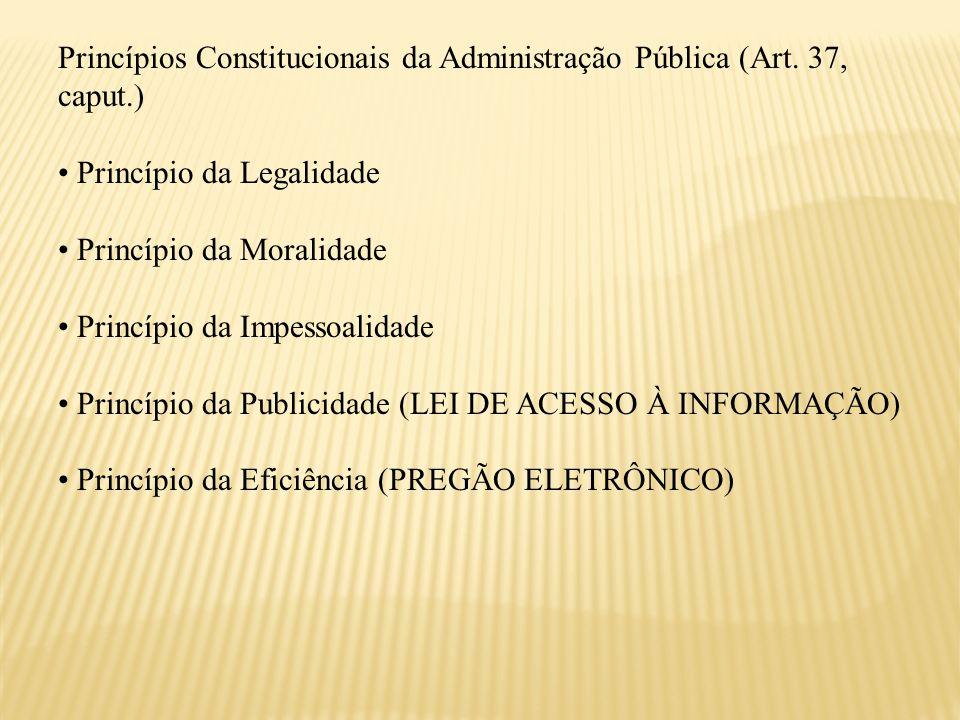 Princípios Constitucionais da Administração Pública (Art. 37, caput.)