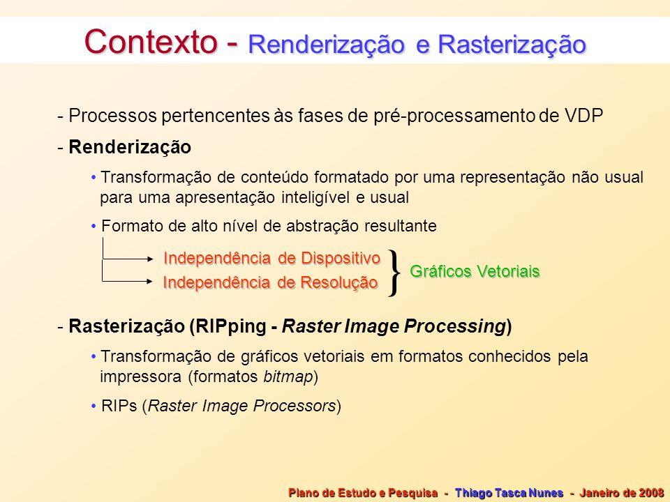Contexto - Renderização e Rasterização