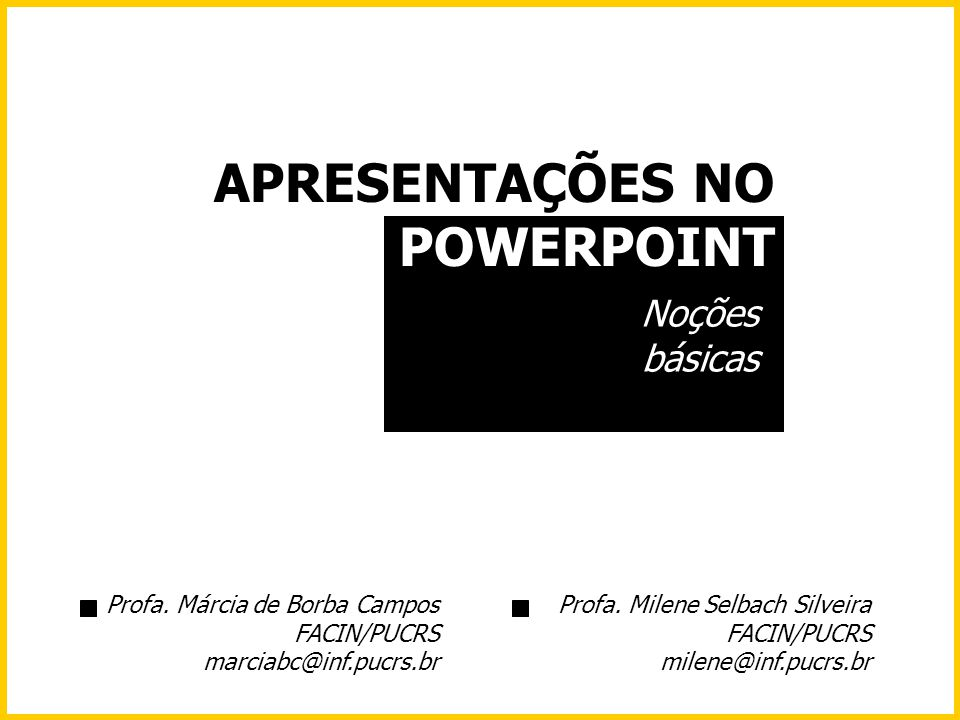APRESENTAÇÕES NO POWERPOINT
