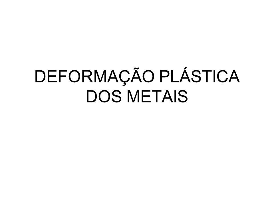 DEFORMAÇÃO PLÁSTICA DOS METAIS