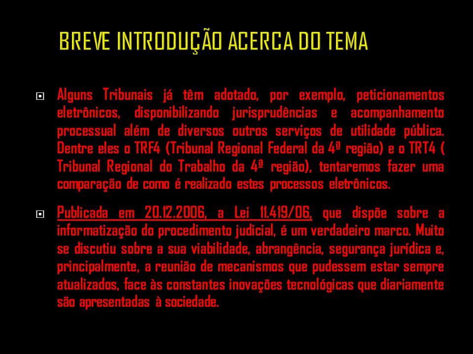 BREVE INTRODUÇÃO ACERCA DO TEMA