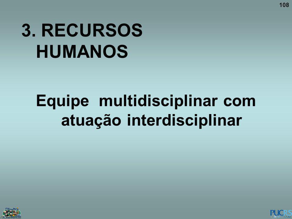 Equipe multidisciplinar com atuação interdisciplinar