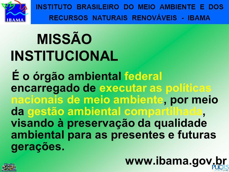 INSTITUTO BRASILEIRO DO MEIO AMBIENTE E DOS RECURSOS NATURAIS RENOVÁVEIS - IBAMA