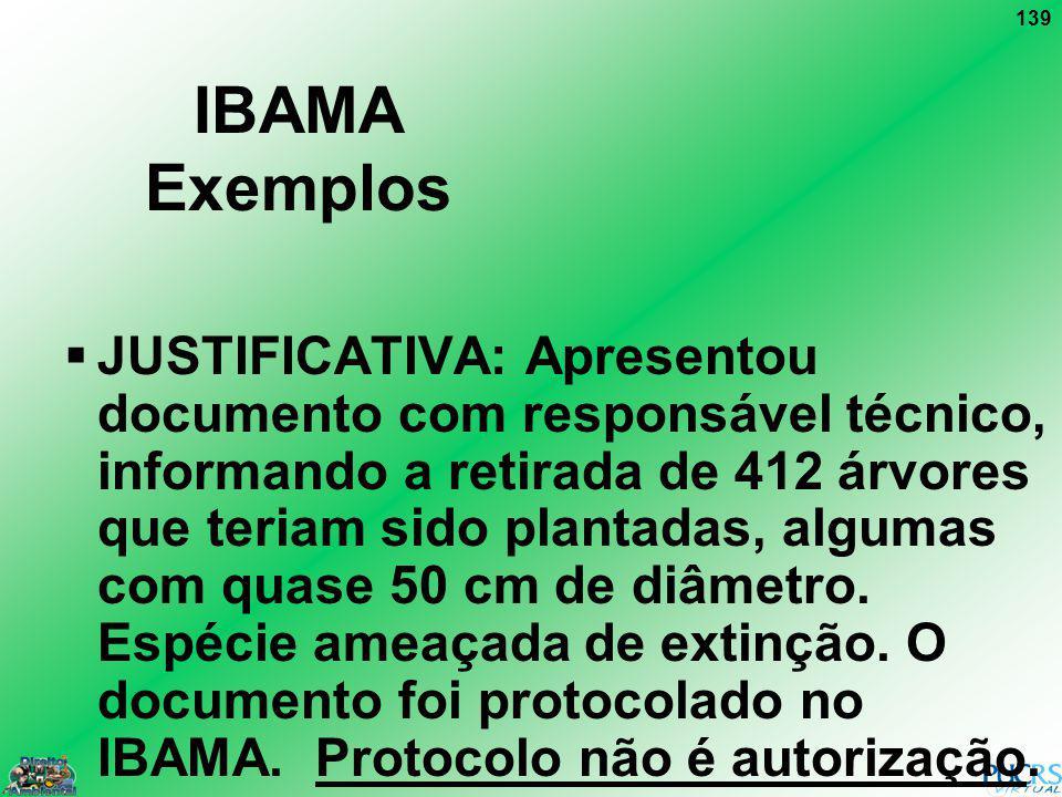 IBAMA Exemplos