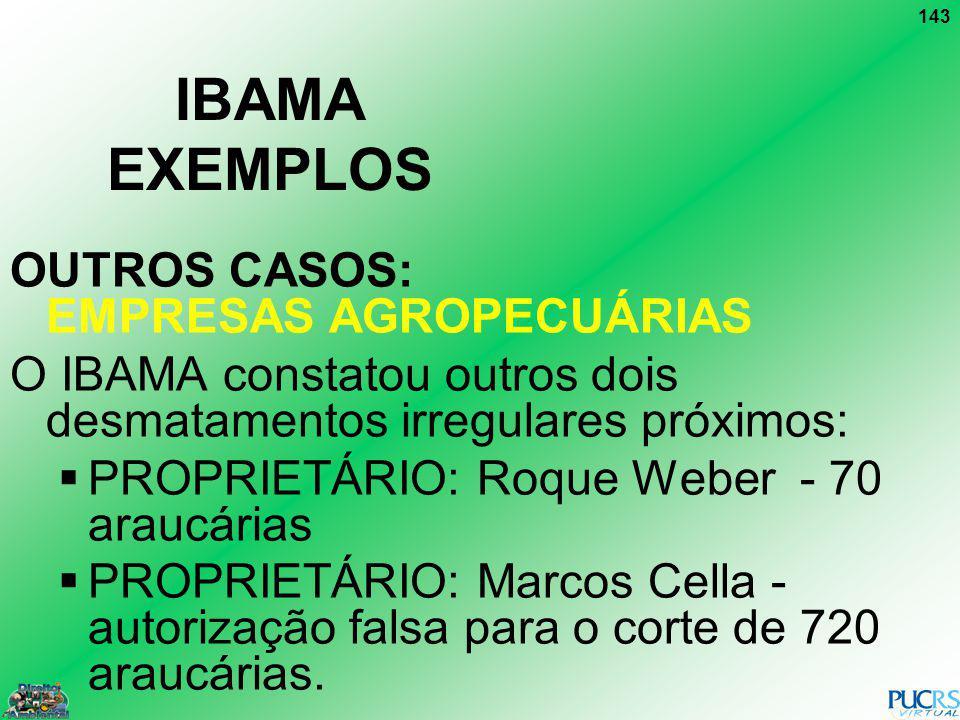 IBAMA EXEMPLOS OUTROS CASOS: EMPRESAS AGROPECUÁRIAS