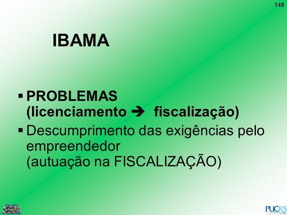 IBAMA PROBLEMAS (licenciamento  fiscalização)