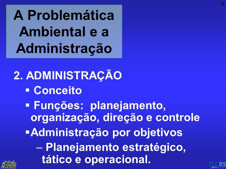 A Problemática Ambiental e a Administração