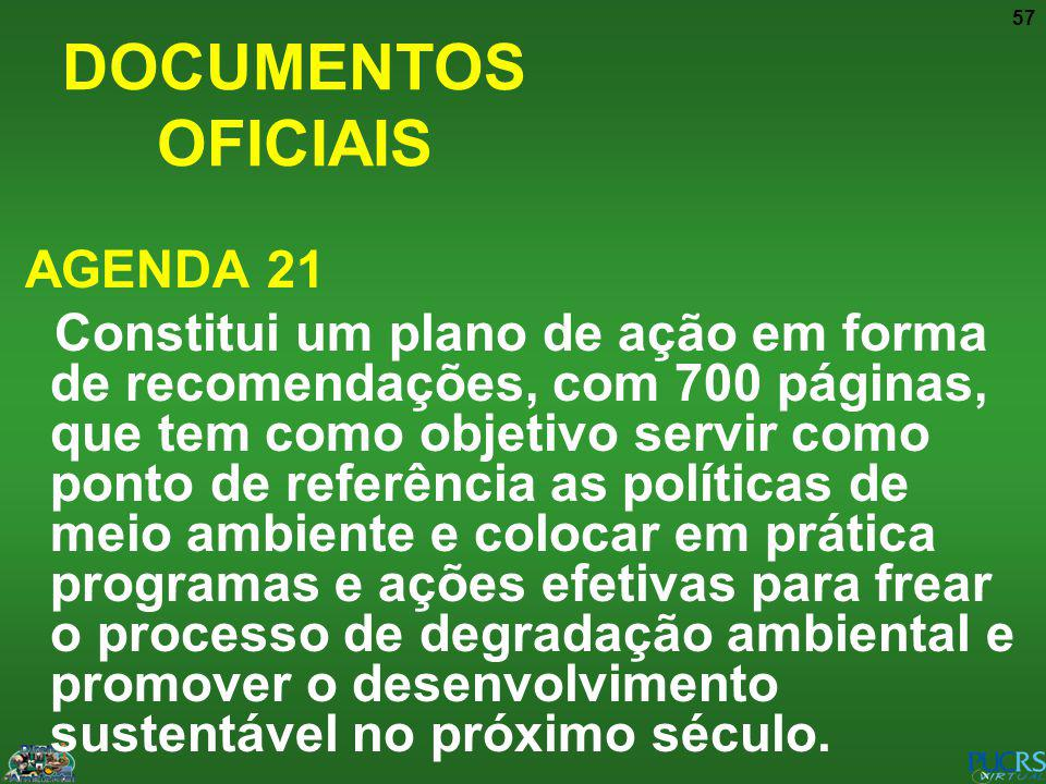 DOCUMENTOS OFICIAIS AGENDA 21
