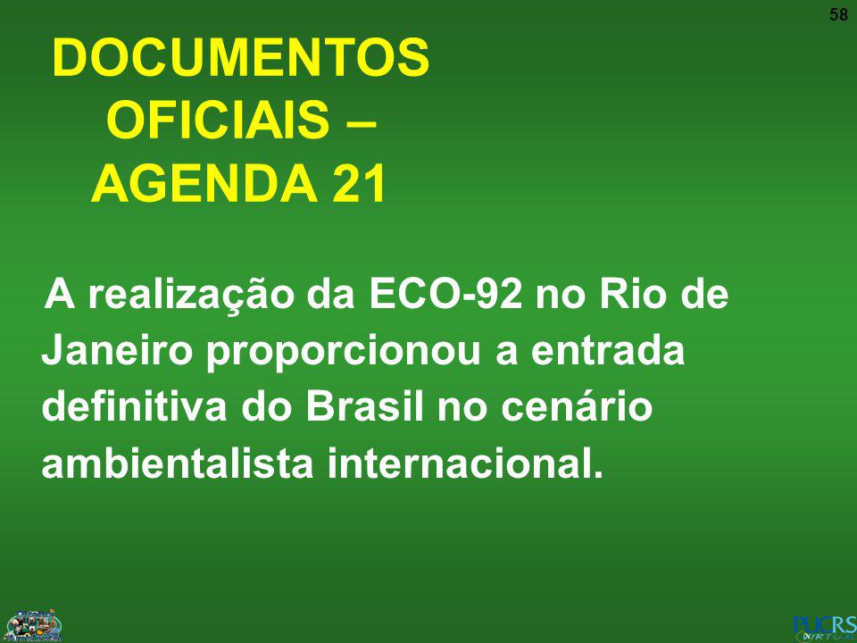 DOCUMENTOS OFICIAIS – AGENDA 21