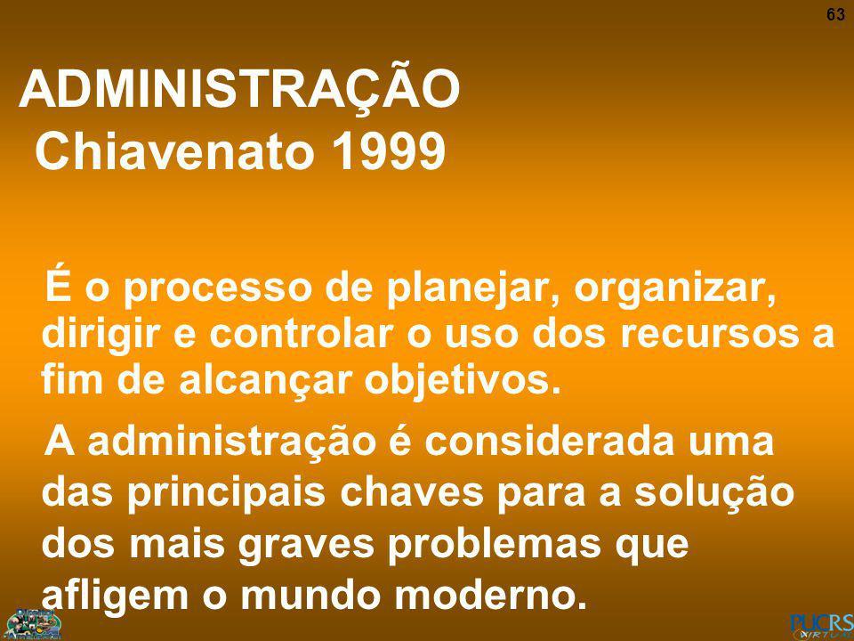 ADMINISTRAÇÃO Chiavenato 1999