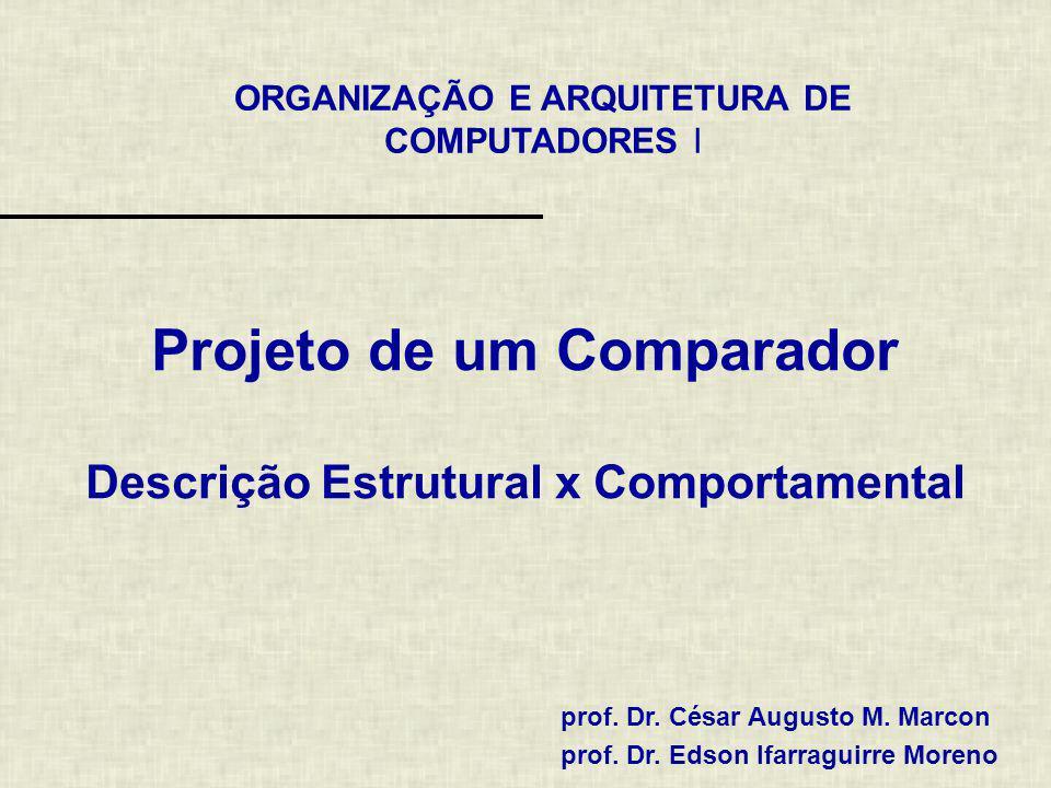 Projeto de um Comparador Descrição Estrutural x Comportamental