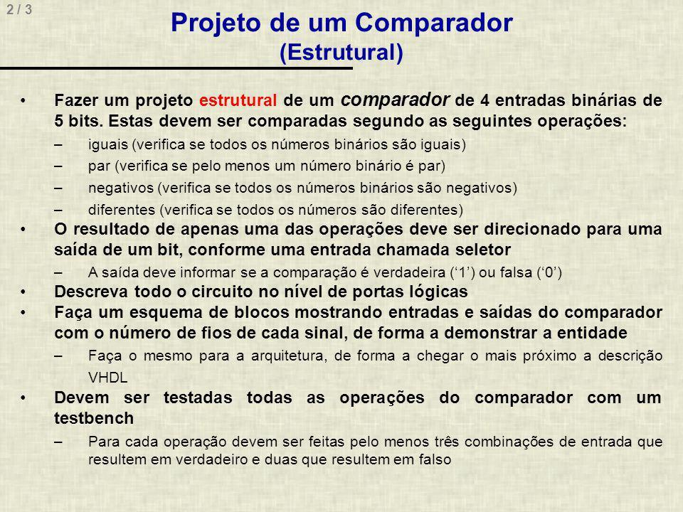 Projeto de um Comparador (Estrutural)