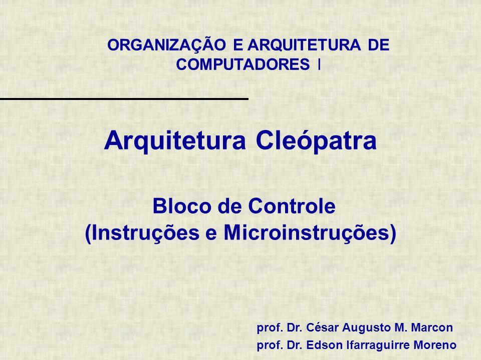 Arquitetura Cleópatra Bloco de Controle (Instruções e Microinstruções)