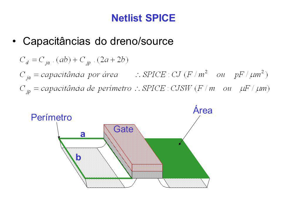 Capacitâncias do dreno/source