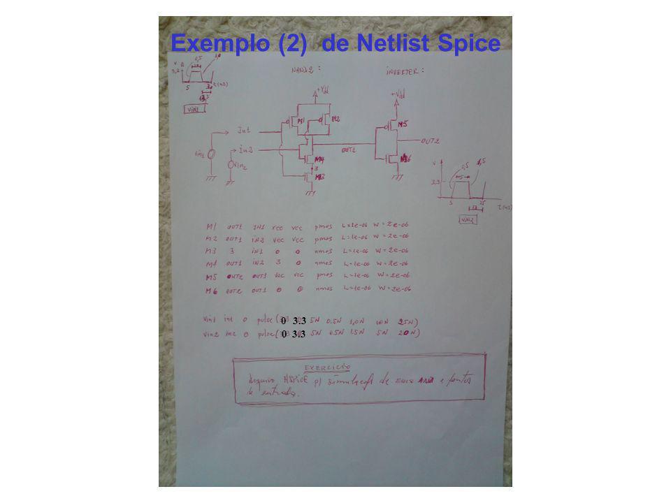 Exemplo (2) de Netlist Spice