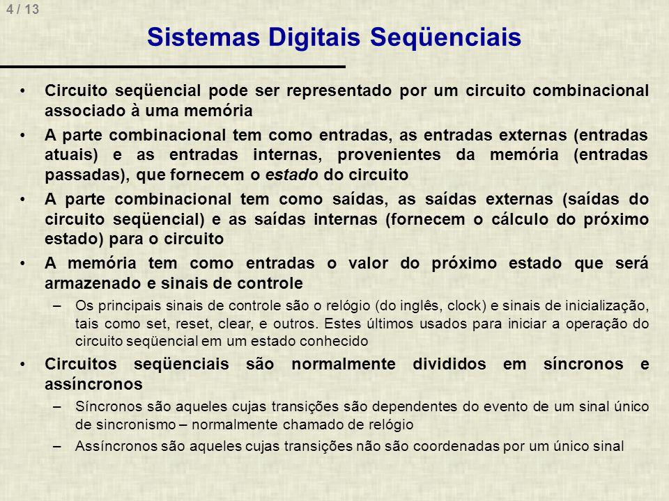 Sistemas Digitais Seqüenciais
