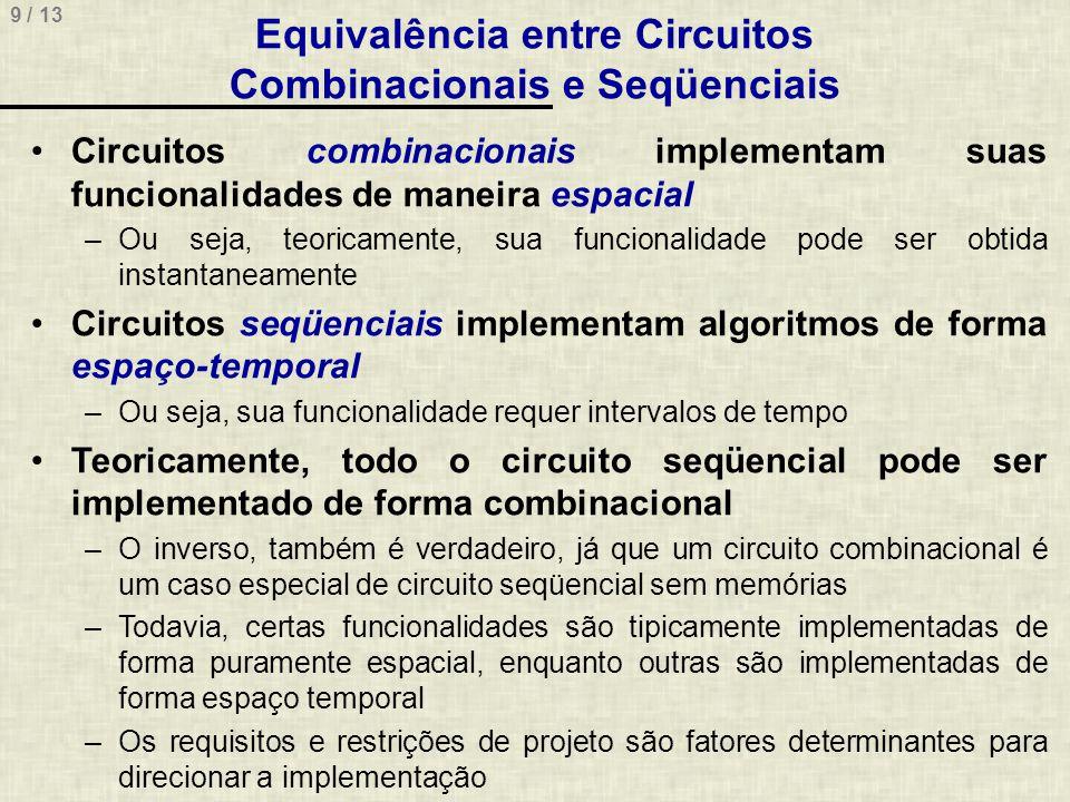 Equivalência entre Circuitos Combinacionais e Seqüenciais