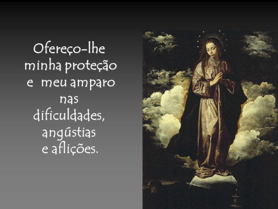 Ofereço-lhe minha proteção e meu amparo nas dificuldades, angústias e aflições.