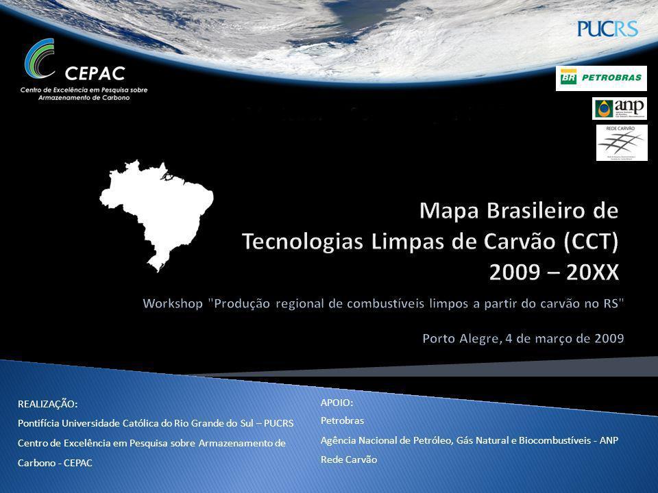 Mapa Brasileiro de Tecnologias Limpas de Carvão (CCT) 2009 – 20XX