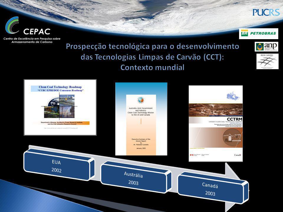 Prospecção tecnológica para o desenvolvimento das Tecnologias Limpas de Carvão (CCT): Contexto mundial