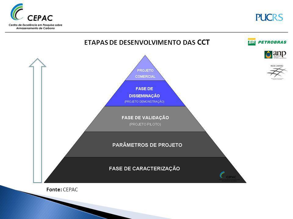 ETAPAS DE DESENVOLVIMENTO DAS CCT