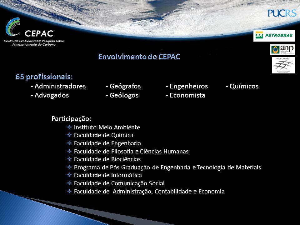 Envolvimento do CEPAC 65 profissionais: