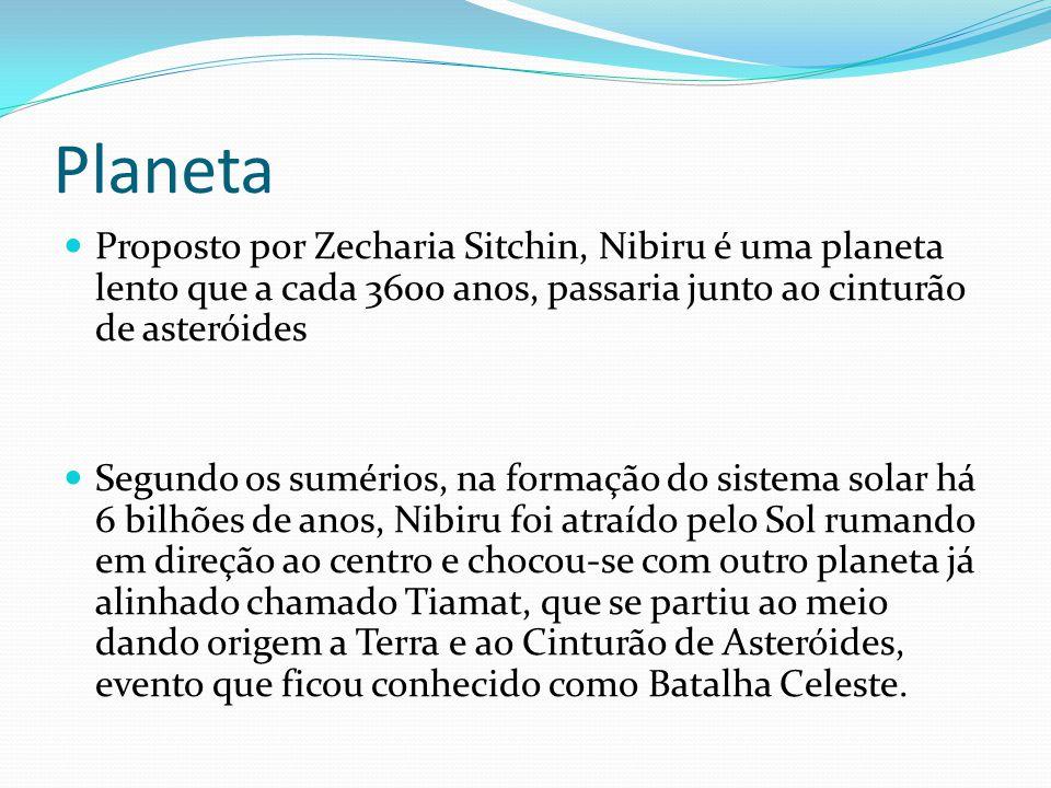 Planeta Proposto por Zecharia Sitchin, Nibiru é uma planeta lento que a cada 3600 anos, passaria junto ao cinturão de asteróides.