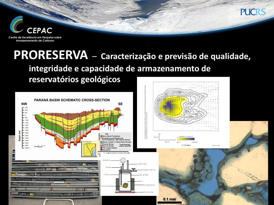PRORESERVA – Caracterização e previsão de qualidade, integridade e capacidade de armazenamento de reservatórios geológicos
