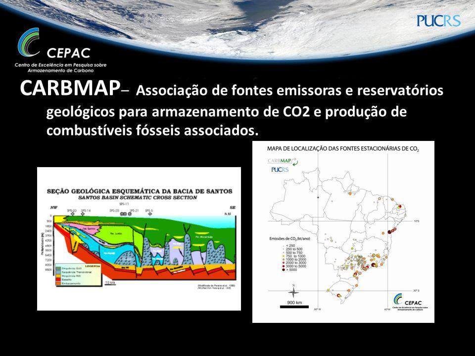 CARBMAP– Associação de fontes emissoras e reservatórios geológicos para armazenamento de CO2 e produção de combustíveis fósseis associados.