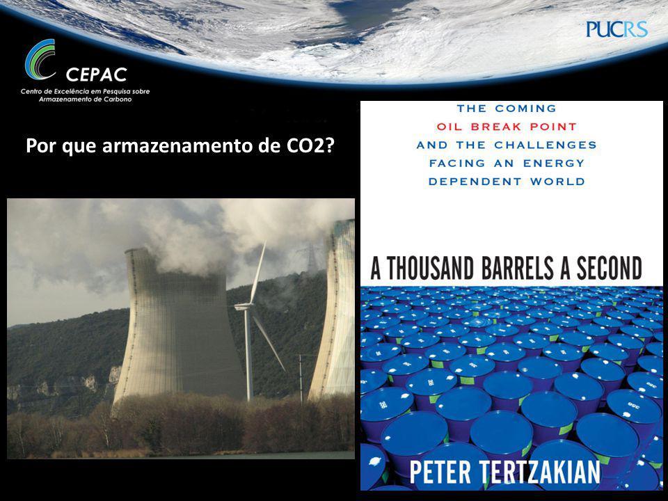 Por que armazenamento de CO2