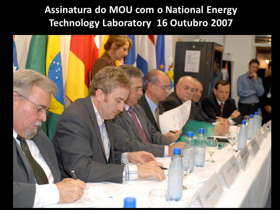 Assinatura do MOU com o National Energy Technology Laboratory 16 Outubro 2007
