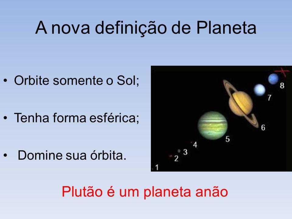 A nova definição de Planeta