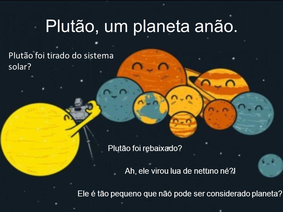 Plutão, um planeta anão. Plutão foi tirado do sistema solar