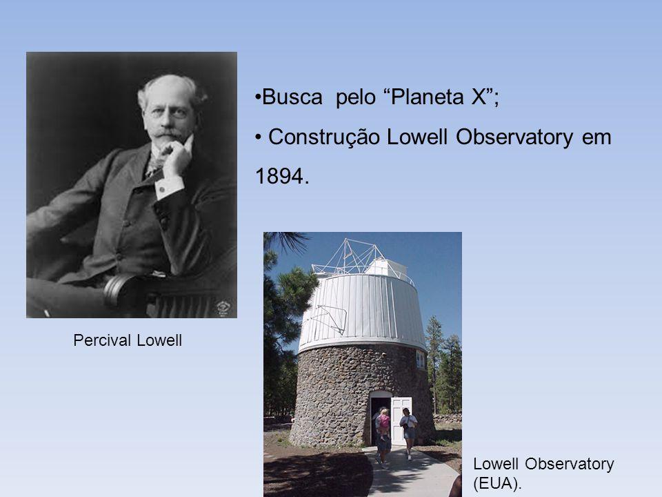 Busca pelo Planeta X ; Construção Lowell Observatory em 1894.